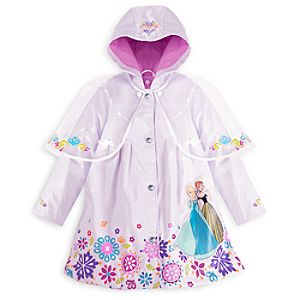 Anna and Elsa Rain Jacket for Girls