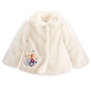 Anna and Elsa Deluxe Faux Fur Coat - Frozen - Personalizable