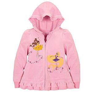 Ruffled Ballerina Disney Princess Hoodie for Girls
