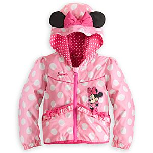Minnie Mouse Hooded Jacket for Girls - Personalizable