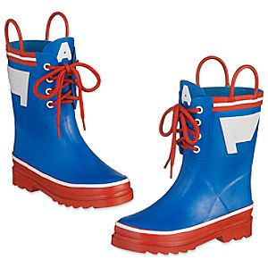 Captain America Rain Boots for Kids