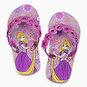 Rapunzel Flip Flops for Kids
