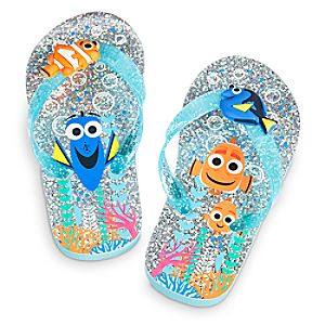 Finding Dory Flip Flops for Kids - Glitter