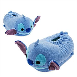 Stitch ''Tsum Tsum'' Plush Slippers for Adults