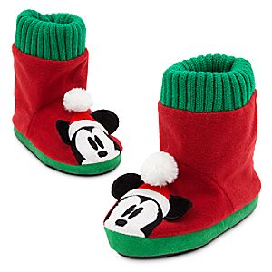 Mickey Mouse Holiday Slippers for Kids