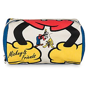 Mickey Mouse and Friends Zip Canvas Pouch