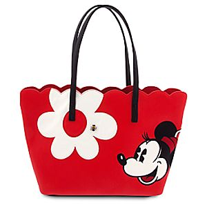 Minnie Mouse Floral Tote - Red