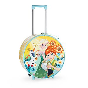 Frozen Fever Light-Up Rolling Luggage
