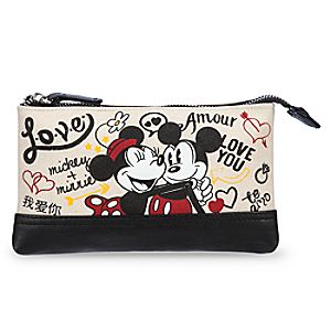 Mickey and Minnie Mouse Canvas Make-Up Bag - I Love Mickey Collection