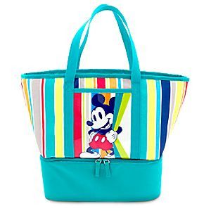 Mickey Mouse Insulated Zip Cooler Tote - Summer Fun