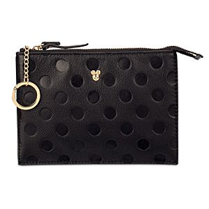 Minnie Mouse Leather Zip Pouch Bag