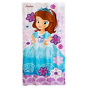 Sofia the First Beach Towel - Personalizable