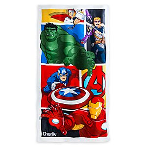 Marvels Avengers Swim Towel - Personalizable