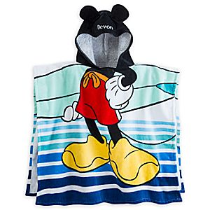 Mickey Mouse Clubhouse Hooded Towel For Kids - Personalizable