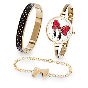 Minnie Mouse Watch and Bracelet Set - Signature Collection
