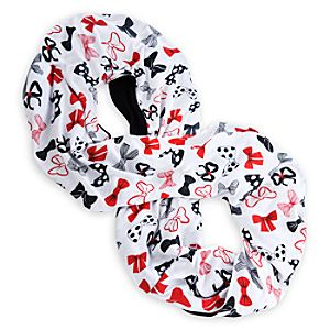 Minnie Mouse Bow Infinity Scarf for Women