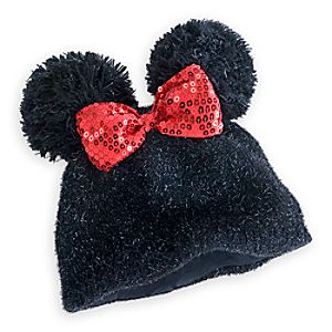 Minnie Mouse Knit Pom Pom Ear Hat for Kids