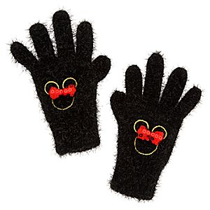Minnie Mouse Sparkle Knit Gloves for Kids