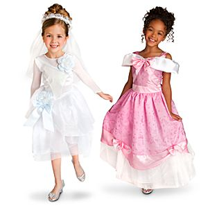 Wedding Gown and Party Dress Cinderella Costume Set for Girls -- 2-Pc.