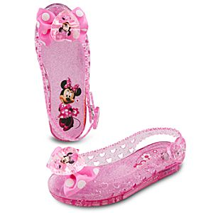 Light-Up Jelly Minnie Mouse Shoes for Toddler Girls