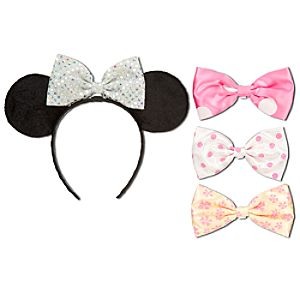 Minnie Mouse Ears Headband and Bow Set -- 5-Pc.