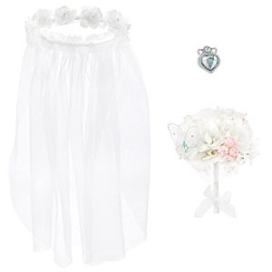 Disney Princess Cinderella Veil, Bouquet and Ring Set for Girls -- 3-Pc.