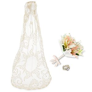 Rapunzel White Wedding Accessory Set for Girls
