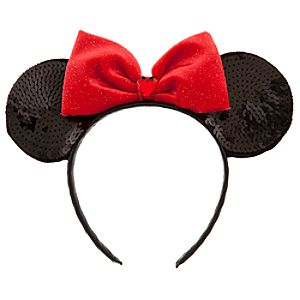 Sequined Minnie Mouse Ears Headband for Girls
