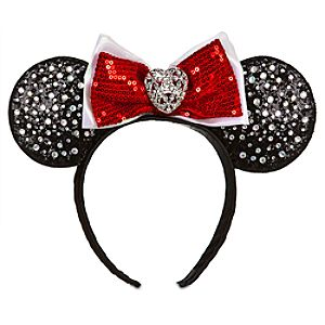 Rhinestone Minnie Mouse Ears Headband for Girls