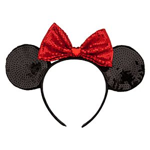 Minnie Mouse Ear Headband - Red Bow