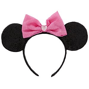 Minnie Mouse Ear Headband - Pink Bow