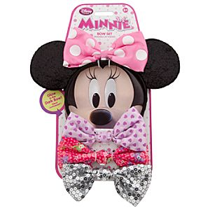 Minnie Mouse Ear Headband and Bow Set
