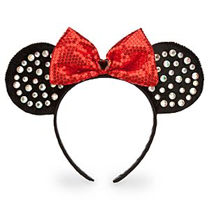 Minnie Mouse Ears Headband for Girls - Red