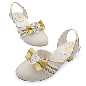 Rapunzel White Wedding Shoes for Girls