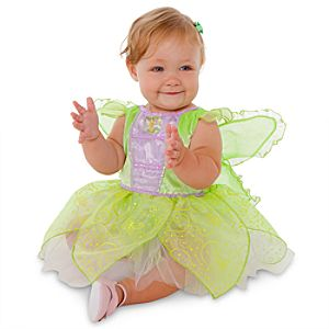 Glow-in-the-Dark Tinker Bell Costume for Baby Girls