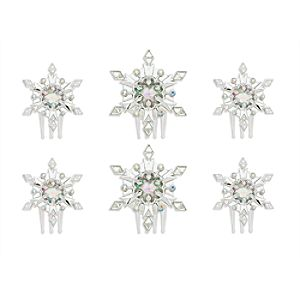 Elsa Light-Up Snowflake Hair Comb Set