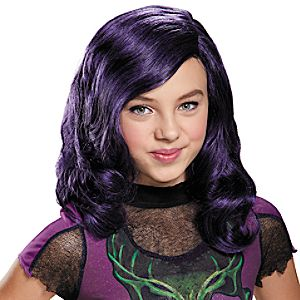Mal Wig for Kids by Disguise - Descendants - Purple