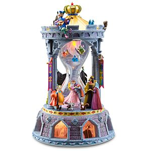 Hourglass Sleeping Beauty Snowglobe