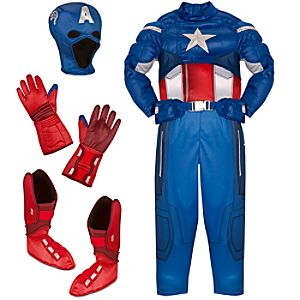 The Avengers Deluxe Captain America Costume for Boys