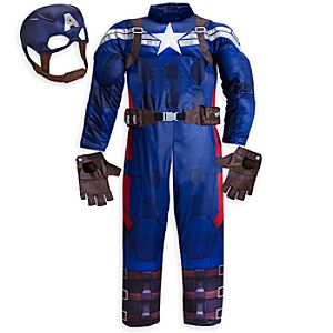 Captain America Deluxe Costume for Boys