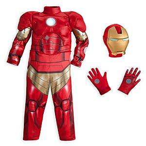 Iron Man Deluxe Light-Up Costume for Boys