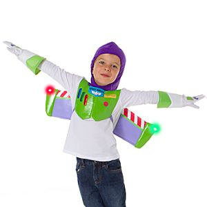 Light Up Buzz Lightyear Jetpack with Hood and Gloves Set for Boys