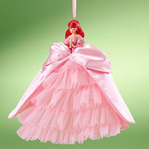 Ariel Doll Ornament with Holiday Gown