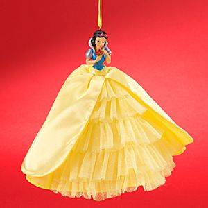 Snow White Ornament with Holiday Gown