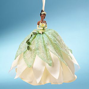 Tiana Doll Ornament with Holiday Gown