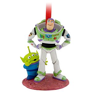 Space Alien and Buzz Lightyear Ornament