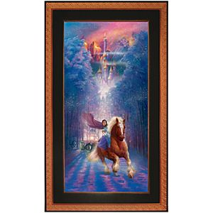 Framed Limited-Edition Beauty and the Beast Giclée ''Belle's Search''