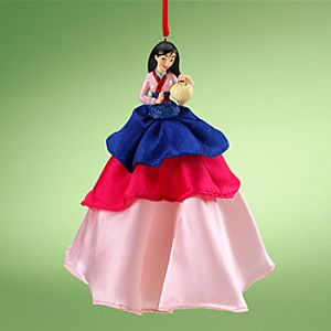Mulan Doll Ornament with Holiday Gown