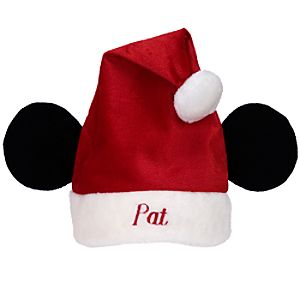 Personalized Mickey Mouse Ears Santa Hat for Kids