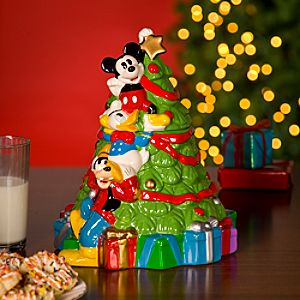 Mickey Mouse and Friends Christmas Tree Cookie Jar